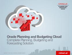 Oracle - planowanie i budżetowanie w chmurze